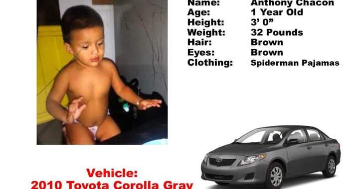 Amber Alert: Desert Hot Springs, CA: Authorities needing public's help in finding a stolen vehicle with 1 year old Anthony Chacon inside.