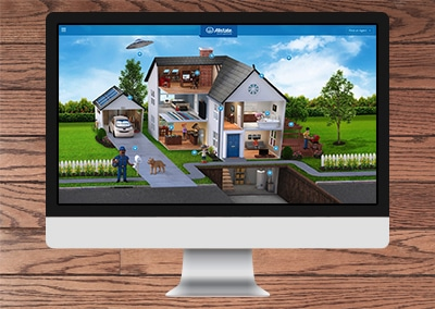 The Allstate Good Home Interactive Website