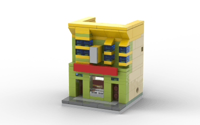 Lego Bobs Burgers Microbuild [With Instructions]