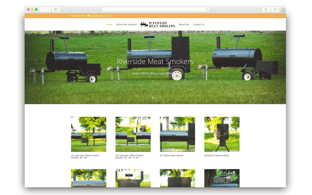 Riverside Meat Smokers Website