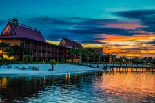Polynesian_Village_Resort_at_Sunset