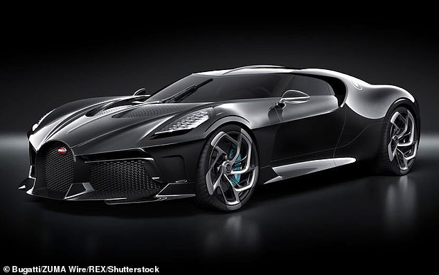 Stunning:Ronaldo is believed to own as many as 20 cars, among the one-off Bugatti La Voiture Noire - reportedly the most expensive car ever built (pictured)