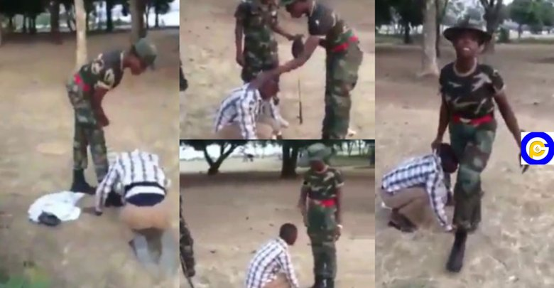 Female-Military-Officer-beats-the-hell-out-of-a-young-man-for-commenting-on-her-beauty