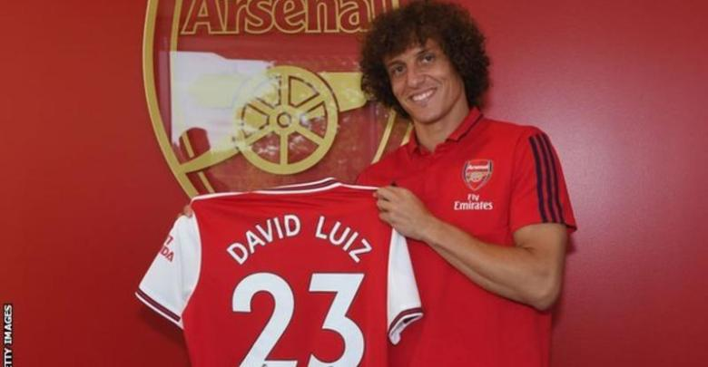 David Luiz joined Arsenal from Chelsea on deadline day in 2019 (Image credit: Getty Images)