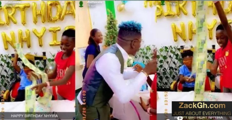 Shatta Wale Gifts His Daughter Nhyira An iPhone, A Laptop And Other Expensive Gifts On Her Birthday- Video