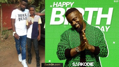 Larruso celebrates Sarkodie by sharing his childhood photo with him