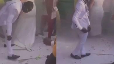 Patapaa Makes Headline At His Wedding As He Picks Money On The Floor