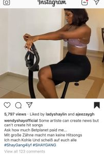 3FE6C27D 5D0B 4ABC A1CE F6DA54DCE8D2 Wendy Shay Replies Fantana For Calling Her A Local Champion, Rubs Her Ambassadorial Deal In Her Face