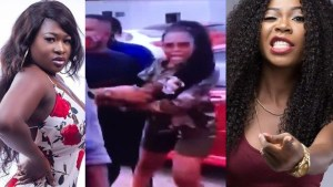 D9658B25 04B9 4C94 84CE 2BCE452C6301 Hot Video: Sista Afia & Freda Rhymz Attempt Fighting Each other on Tv3 premises