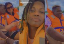 Shatta Wale Hangs Out With O.V And 'Miss Money' On A Boat Cruise – Video