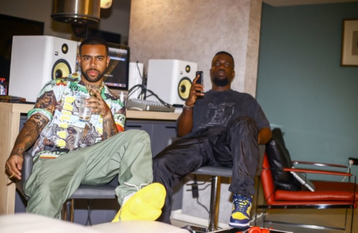 Sarkodie Spotted In Studio With American Rapper Vic Mensa (+Photos)