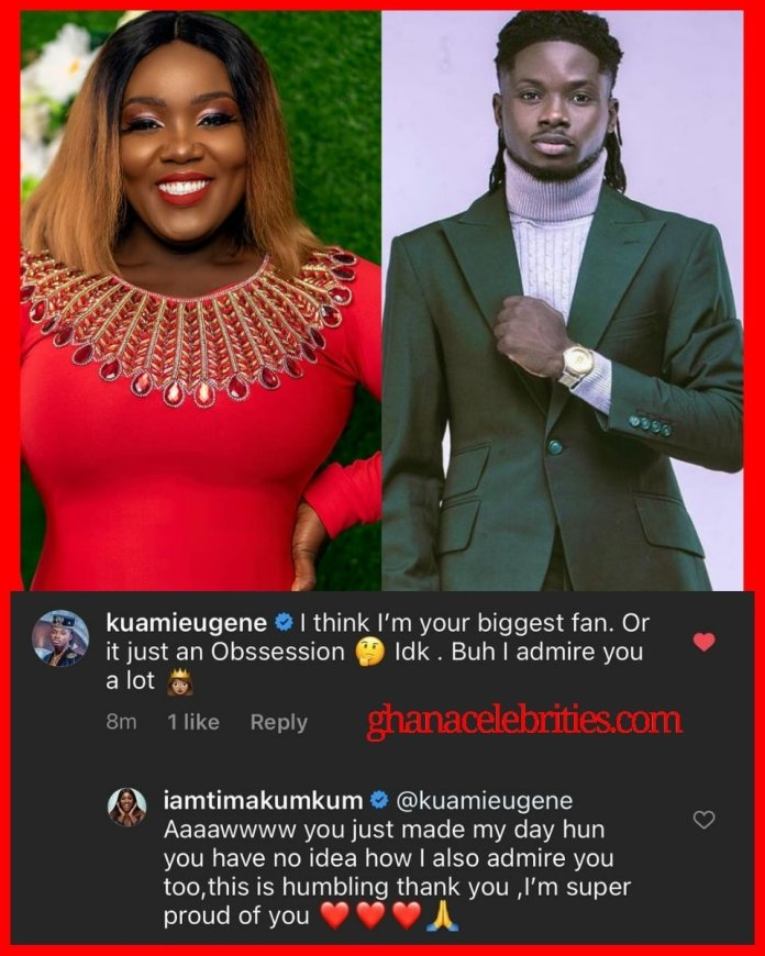7F4067ED F530 4DB5 880F 5EF354F345A9 Kuami Eugene Reacts to Tima Kumkum post after she declared that she's single and needs a man