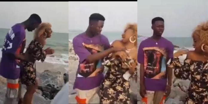 Video vixen angrily leaves video shoot after complaining that the upcoming musician is pressing her too much