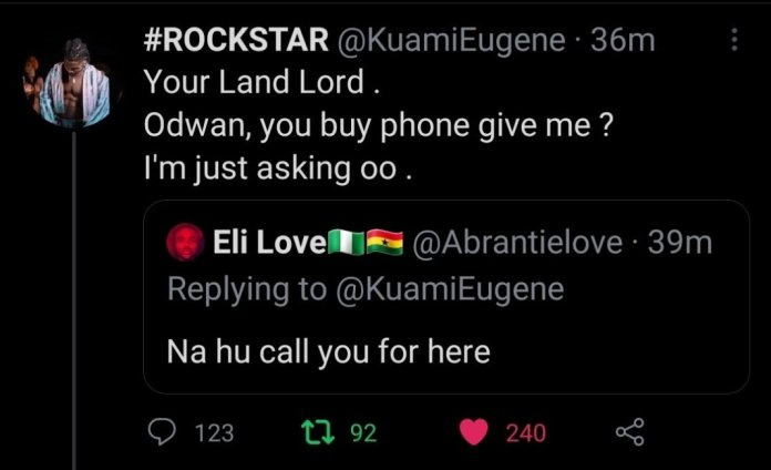 """F08D6123 DBB1 4E8D BBA9 4AF6D5180E73 """"Odwan, You Buy Phone Give Me?"""" – Kuami Eugene Descends On A Fan, And This Is Why"""