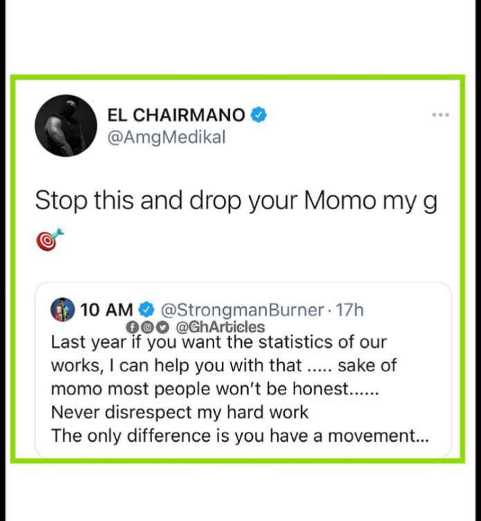 94D067DE A0DA 4342 BD92 FC2A522FF18B Send Your Momo Number – Medikal Tells Strongman As They Revive Their Beef [Video]