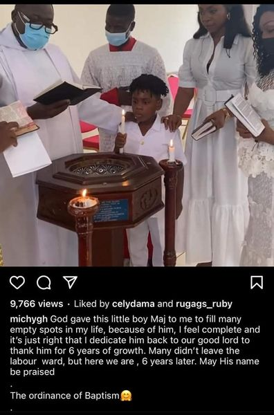 """42295D28 E07A 4488 A513 5A80E7352828 Michy Claps Back At A Netizen For Saying """"God Gave Him To You And His Dad…Stop Acting Like A Single Mum"""" Following Her Decision To Baptise Majesty - See Screenshot"""