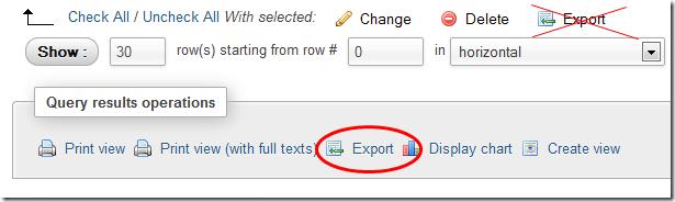 phpmyadmin-export