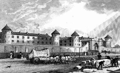 Więzienie Millbank, lata dwudzieste XIX wieku. (źródło)