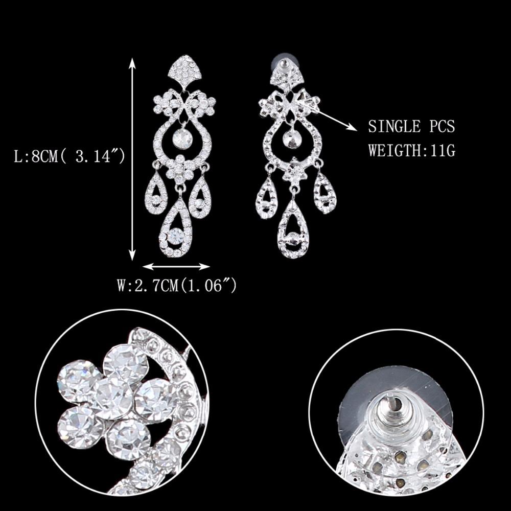 Bella fashion flower vase chandelier bridal earrings austrian bella fashion flower vase chandelier bridal earrings arubaitofo Images