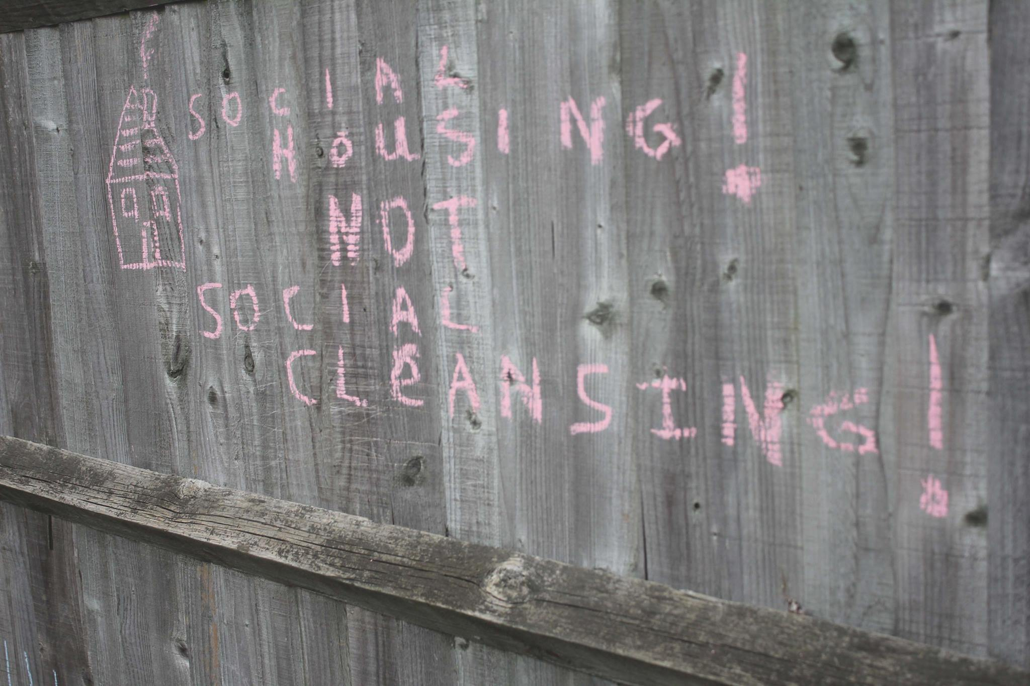 Social housing not social cleaning