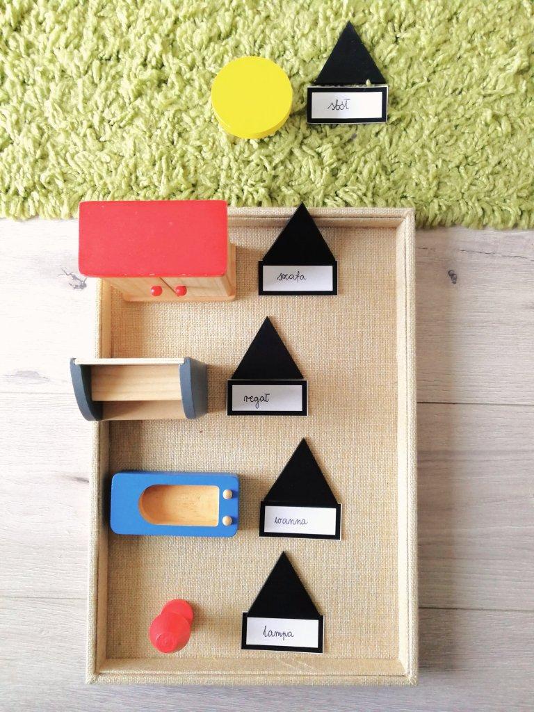 części mowy Montessori