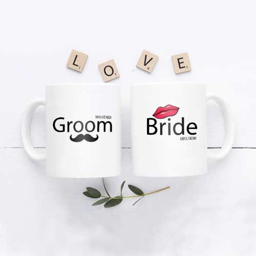 inspirasi kado pernikahan mug couple tema unik