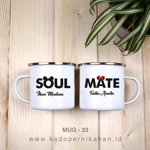 inspirasi kado pernikahan mug enamel couple tema soul mate
