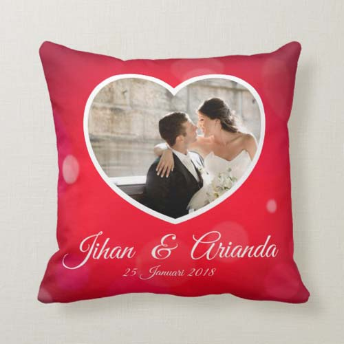kad pernikahan bantal red love story
