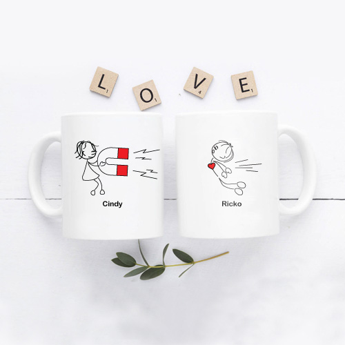Kado Pernikahan Mug Couple Tema Unik & Lucu