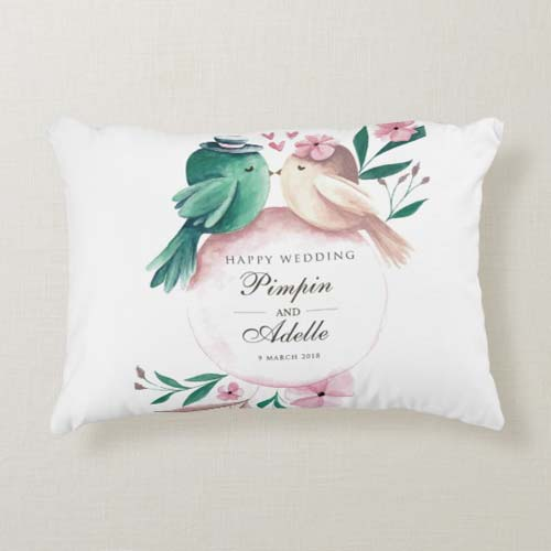 kado pernikahan bantal bird couple