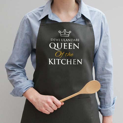 kado pernikahan celemek queen of kitchen