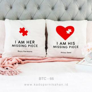 kado pernikahan bantal couple love piece