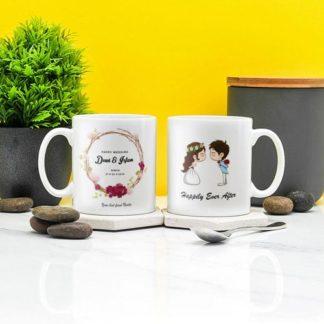 kado pernikahan mug couple tema romantis