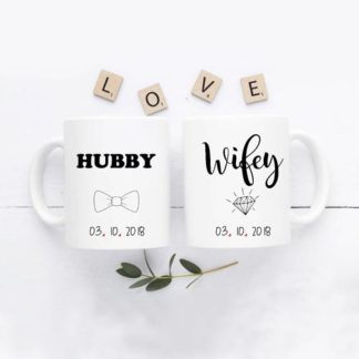 mug couple hubby wifey