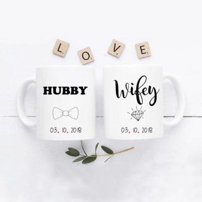 mug couple hubby wifey