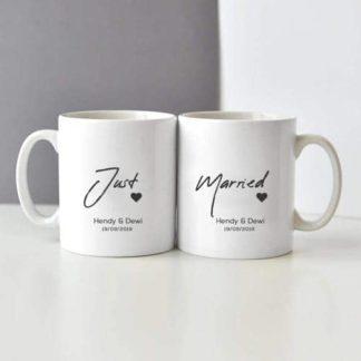 mug couple just married