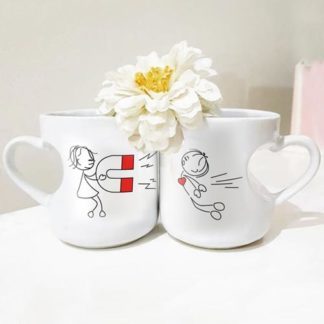 mug couple magnet cinta