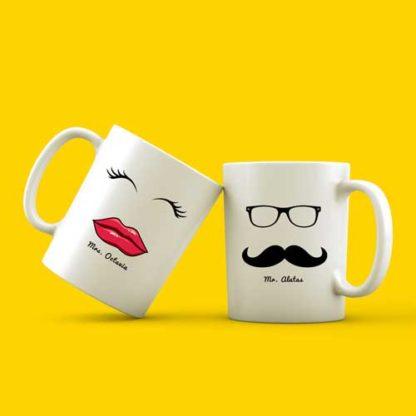 mug couple tema bibir & kumis