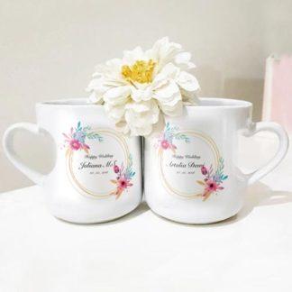 mug couple tema romantic flower gagang love