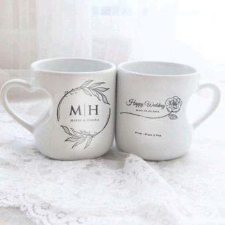 mug love couple tema inisial nama