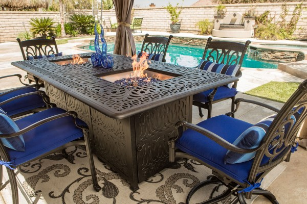 Fire and Ice Outdoor Dining Table