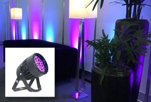 Schönes Ambiente oder Konzertlicht? Kein Problem mit dem CLF Conan LED Scheinwerfer. Der besondere Clou: ein fernsteuerbarer Zoom.