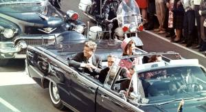 John F. Kennedy-and-his-wife-before-shot-on-limusine