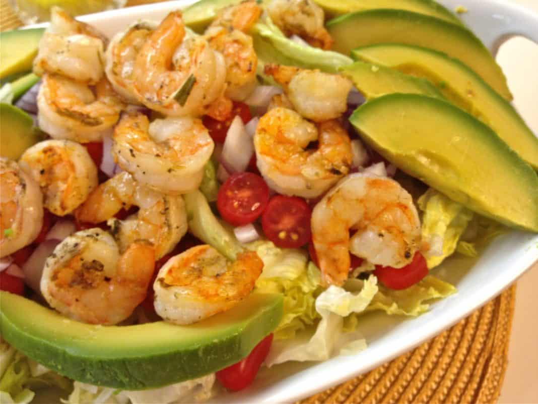 Grilled Shrimp And Avocado Salad With Asian Vinaigrette