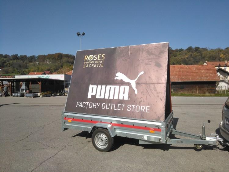 Mobilni billboard/jumbo pano Zagorje - Puma