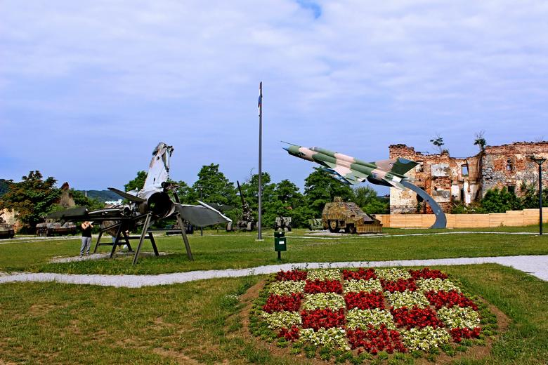 Croatia Homeland war museum in Karlovac with MIG's and weapons
