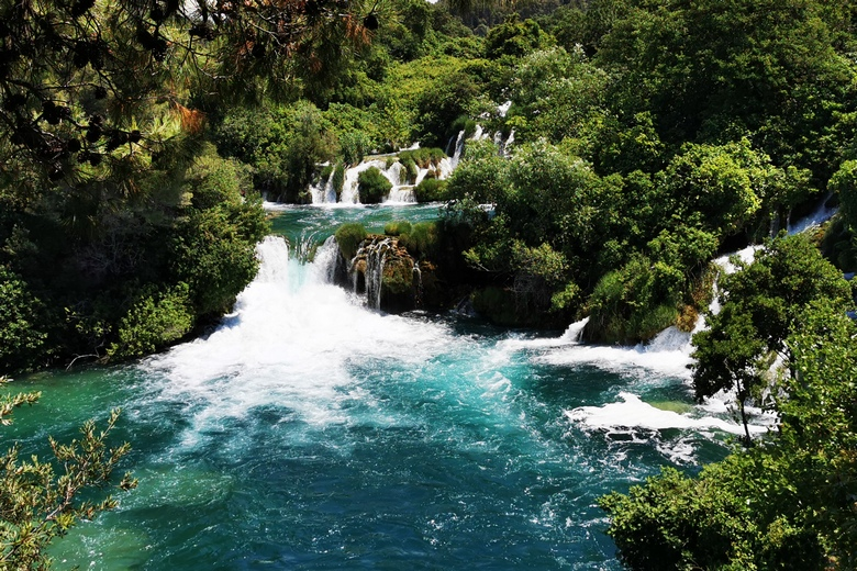 Krka river waterfall national park