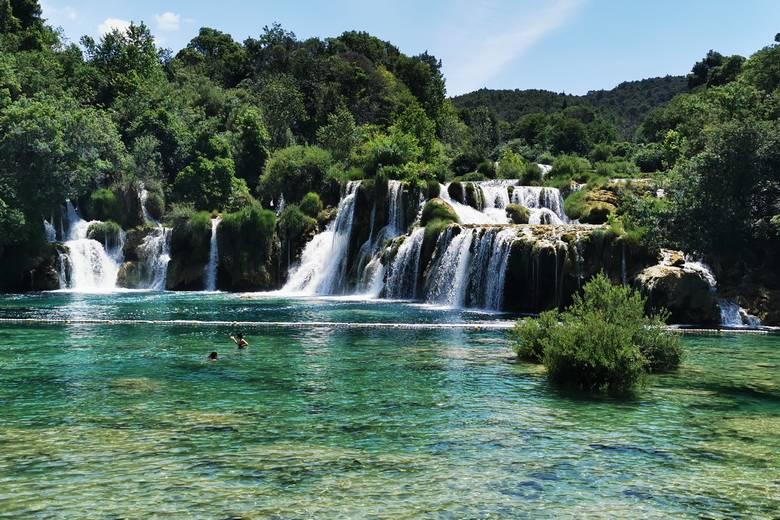 Krka river waterfalls on the Croatia national parks tour