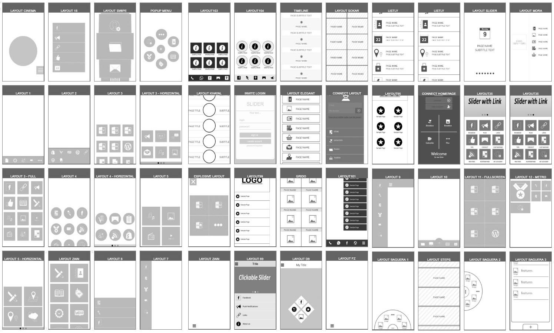 لایه بندی و چیدمان طراحی داخل اپلیکیشن