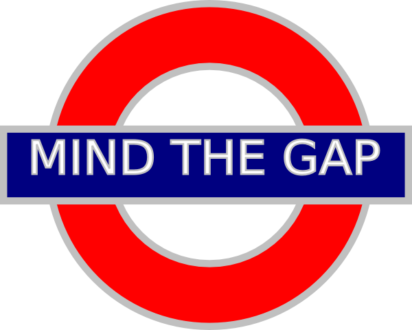 Mind the Gap Tube Sign by Anne Moniuk | clker.com